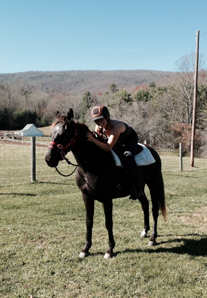 Flashback: Fall training day in her red halter... one of our first rides