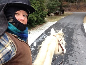 All bundled up for a cold weather ride