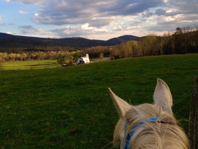 beautiful view from our Saturday day ride in early evening light.