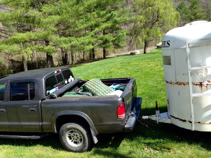 truck... before Ed got everything organized!