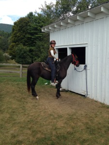 First time in the saddle, Fall 2014