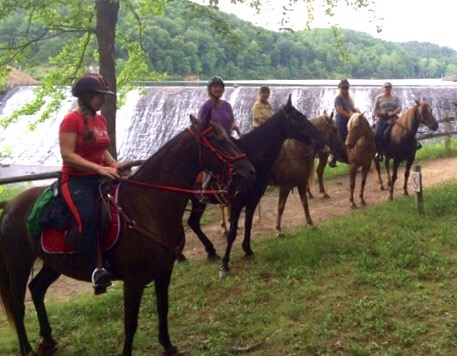 Douthat ride where she was worried about the waterfall and wouldn't stand with the group