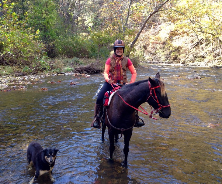 pretty fall ride along the Jackson River