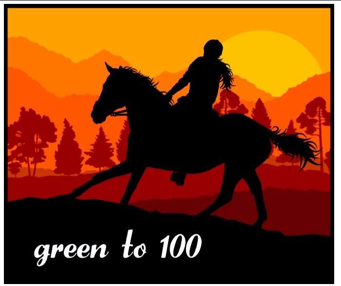 green to 100